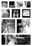 Wedding Collage collection in black and white Royalty Free Stock Photo