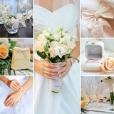 Wedding collage stock photos