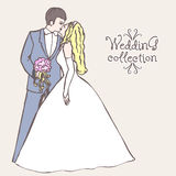 Wedding collection. Bride and Groom coupl Royalty Free Stock Images
