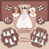 Wedding collection For bride Stock Images