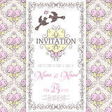 Wedding collection. Invitation design template Royalty Free Stock Images