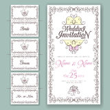Wedding collection. Invitation and Name Cards Royalty Free Stock Image