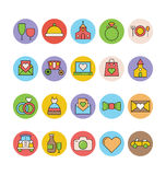 Wedding Colored Vector Icons 5 Stock Photography