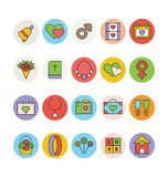 Wedding Colored Vector Icons 3 Royalty Free Stock Photography