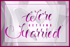 Wedding Colorless background and luster pink text Stock Images