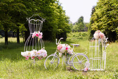 Wedding composition with love stand Stock Photo