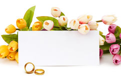 Wedding concept with roses Royalty Free Stock Photography