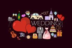 Wedding concept for web design template Royalty Free Stock Photos