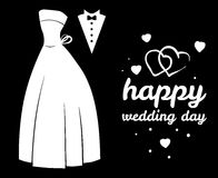 Wedding concept. Weddind dress and suit Stock Photos