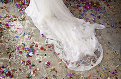 Wedding confetti Royalty Free Stock Photo