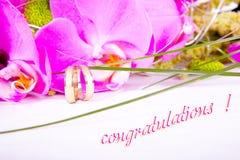 Wedding congratulations Stock Photos
