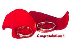 Wedding congratulations Stock Photography