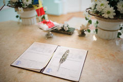 Wedding contract Royalty Free Stock Photography