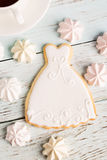 Wedding cookie and merengues Stock Image