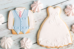 Wedding cookies Stock Image
