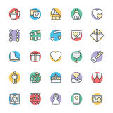 Wedding Cool Vector Icons 2 Royalty Free Stock Photo