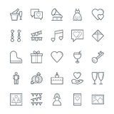 Wedding Cool Vector Icons 2 Royalty Free Stock Photography