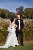 Wedding copule. Beautiful bride and groom. Just merried. Close up. Royalty Free Stock Image
