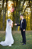 Wedding copule. Beautiful bride and groom. Just merried. Close up. Royalty Free Stock Photography