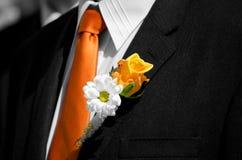 Wedding corsage stock photography