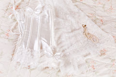 Wedding corset and veil Stock Photography