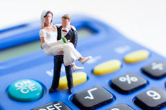 Wedding costs expenses Stock Photo