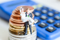 Wedding costs expenses Stock Image