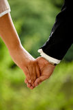 Wedding Couple. Hand in hand stock image