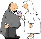 Wedding Couple. This illustration that I created depicts a wedding couple Stock Image
