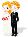 Wedding couple. Clipping path included Stock Images