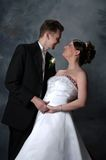 Wedding Couple. A young couple posing for their wedding Stock Photography