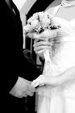 Wedding couple. Close up of wedding couple Stock Images