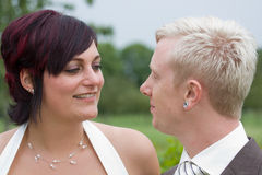 A wedding couple Royalty Free Stock Images