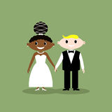 Wedding couple. African American bride and man Royalty Free Stock Images