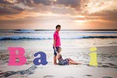 Wedding couple at Bali Stock Photos