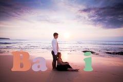Wedding couple at Bali Stock Image