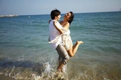 Wedding couple on the beach Royalty Free Stock Image