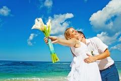 Wedding couple. Wedding on a beach, bali Stock Images