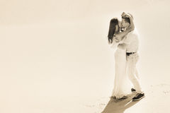 Wedding couple at the beach Stock Photos