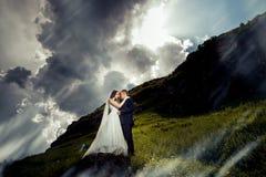 Wedding couple. Beautiful bride and groom. royalty free stock photos