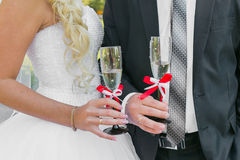 Wedding couple. The bride and groom Stock Photography