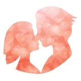 Wedding couple. Bride and groom. Flat style illustration. stock photography