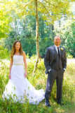 Wedding Couple Bride and Groom Portraits Royalty Free Stock Photography
