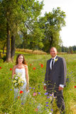 Wedding Couple Bride and Groom Portraits Royalty Free Stock Image