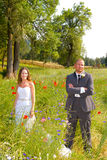 Wedding Couple Bride and Groom Portraits Royalty Free Stock Images