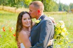 Wedding Couple Bride and Groom Portraits Royalty Free Stock Photo