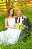 Wedding Couple Bride and Groom Portraits Royalty Free Stock Photos