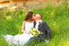 Wedding Couple Bride and Groom Portraits Stock Photos