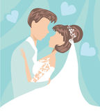 Wedding couple card Royalty Free Stock Photo