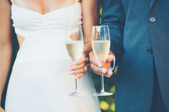 Wedding Couple Champagne Royalty Free Stock Photography